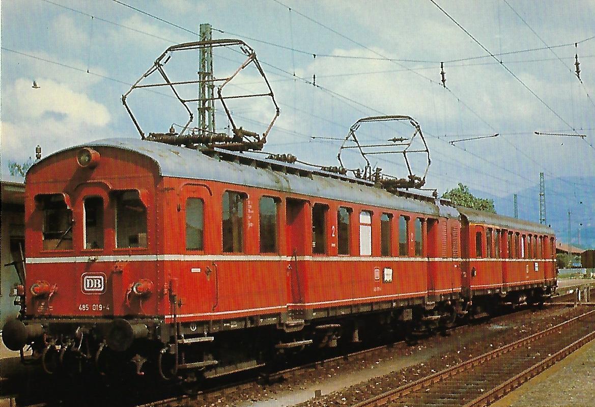 Elektr. Triebwagen 485 019-4. Eisenbahn Bestell-Nr. 10332