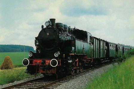 DR 92 442 Dampflokomotive auf der Strohgäubahn. Eisenbahn Bestell-Nr. 10339