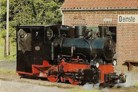 DFKM Dampflokomotive Nr. 7, Deinste bei Stade. Eisenbahn Bestell-Nr. 10342