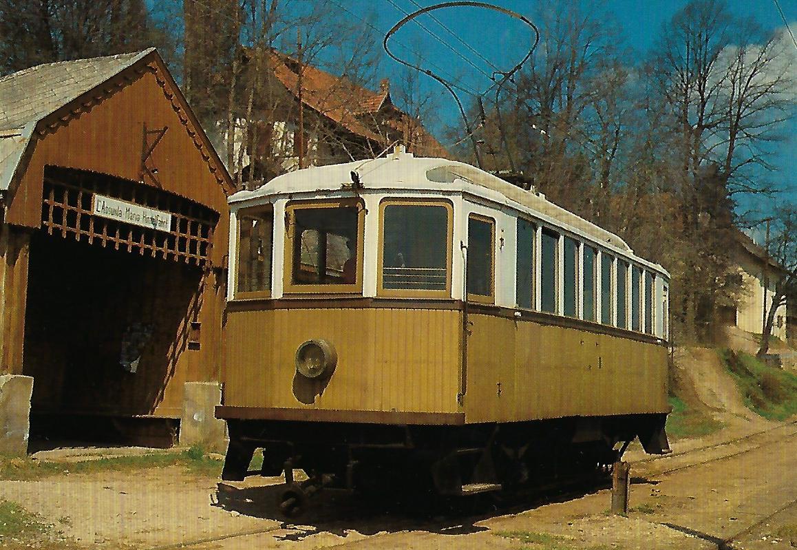 Rittner Bahn eT Nr. 11 in Oberbozen – Maria-Himmelfahrt. Eisenbahn Bestell-Nr. 10347