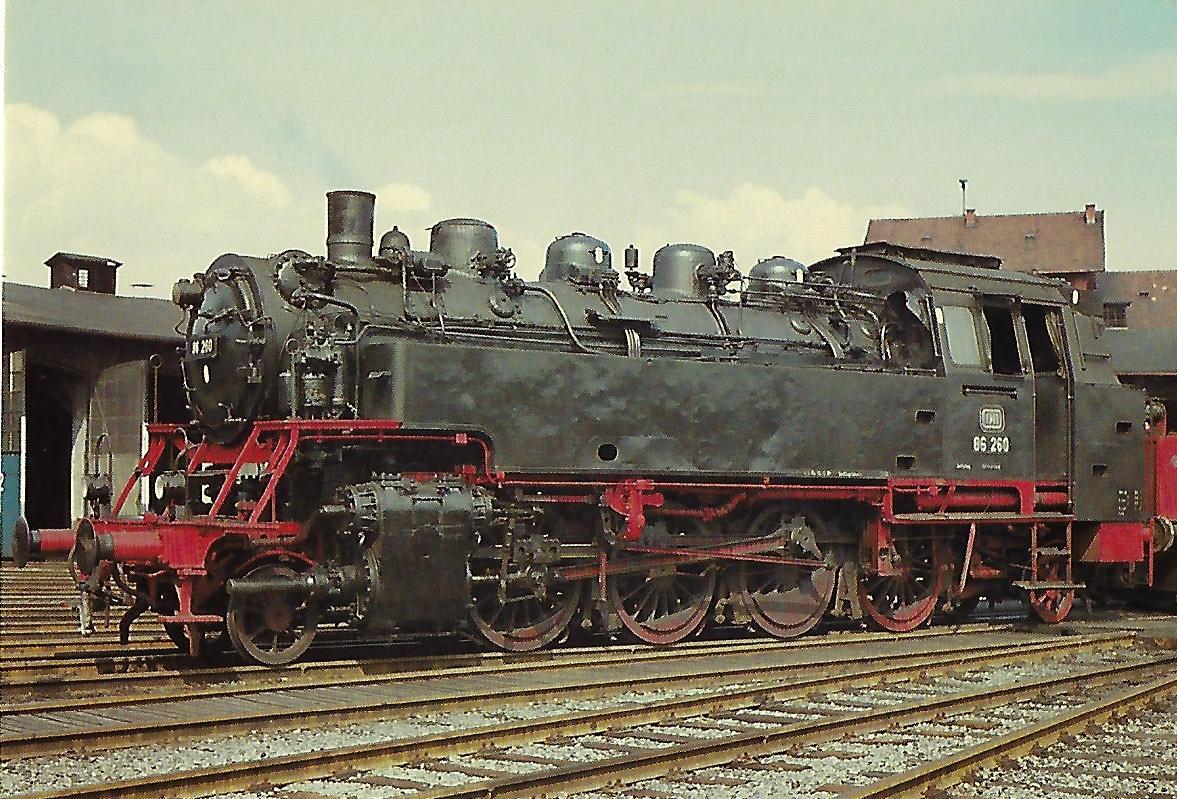 DB 86 260 am 14.4.1968 im Bw Plattling. Eisenbahn Bestell-Nr. 10350