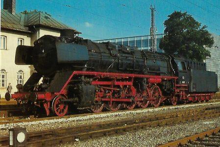 DB, Güterzug-Dampflokomotive 45 023 am 29.6.1965 im Bahnhof München-Mittersendling. Eisenbahn Bestell-Nr. 10356