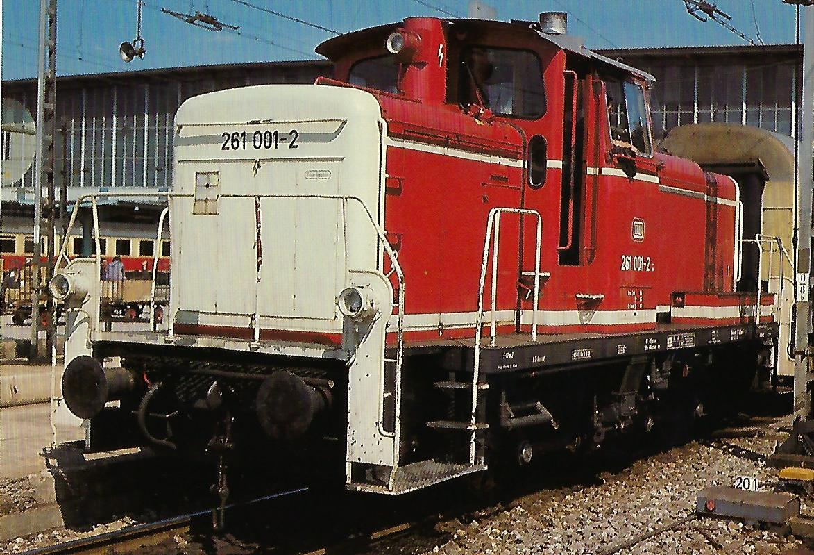DB, Rangierlokomotive 261 001-2. Eisenbahn Bestell-Nr. 10359