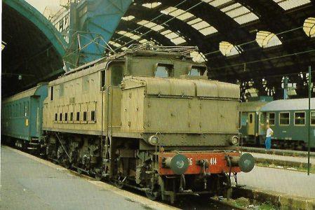 FS, elektrische Lokomotive 626.414 in Mailand. Eisenbahn Bestell-Nr. 10365