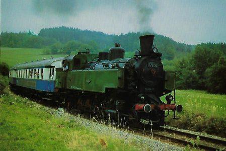 BLV Dampflokomotive 378.32 am 18.7.1982 auf der Regentalbahn bei Blaibach. Eisenbahn Bestell-Nr. 10368
