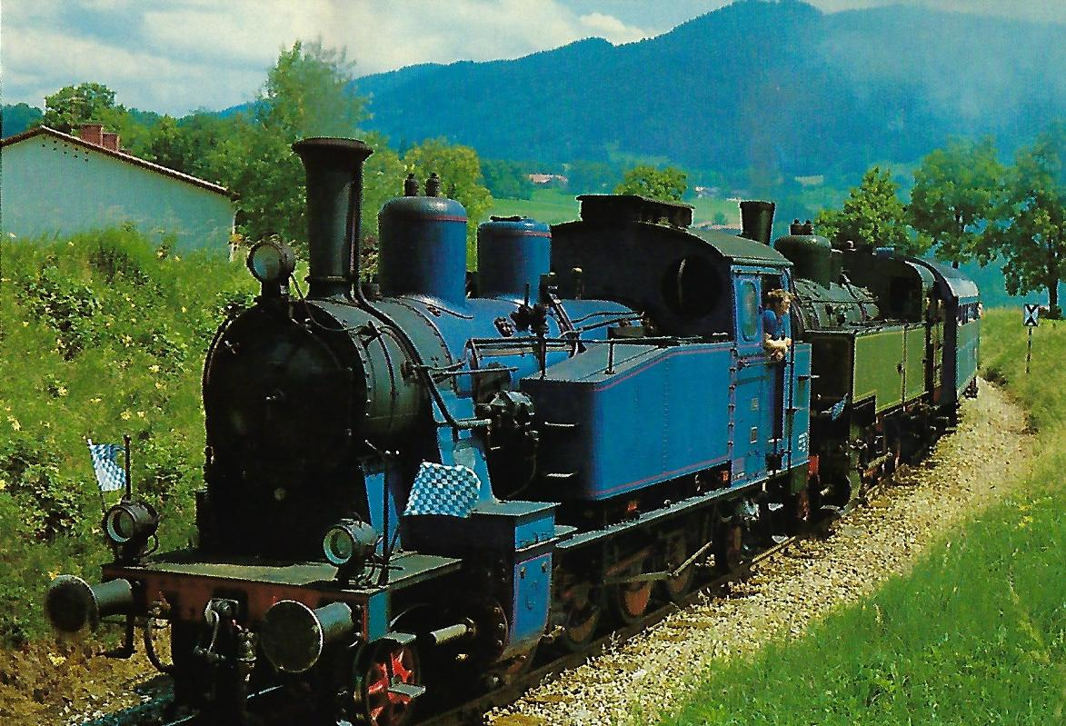 Tegernsee-Bahn AG, TAG 7 und 378.32 bei Gmund. Eisenbahn Bestell-Nr. 10371