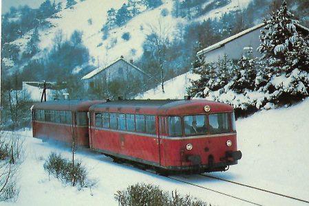 DB, Schienenbus VT 789.5 bei Eichstätt. Eisenbahn Bestell-Nr. 10373