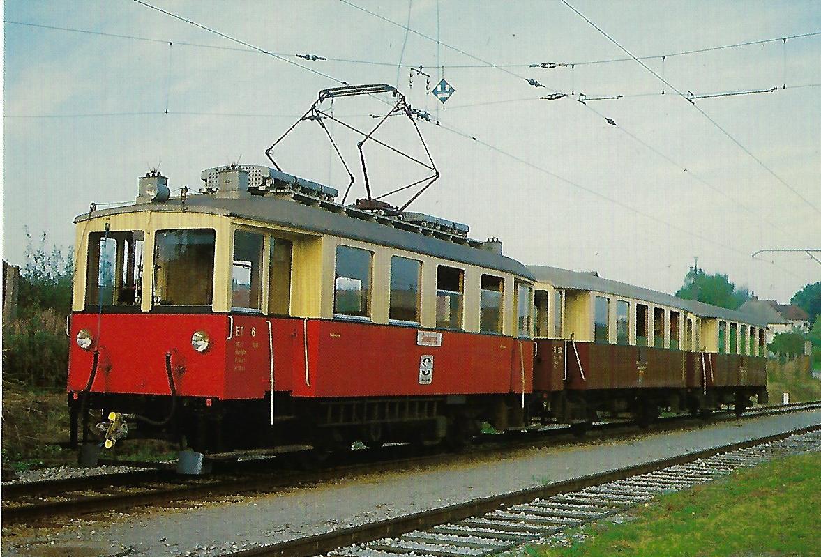 Salzburger Stadtwerke, ET 6 im Bahnhof Lamprechtshausen. Eisenbahn Bestell-Nr. 10375
