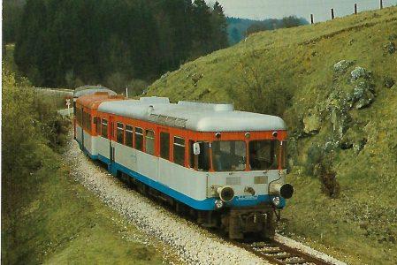 WNB, Schmalspurtriebwagen T 31 auf der Strecke Amstetten – Laichingen. Eisenbahn Bestell-Nr. 10378