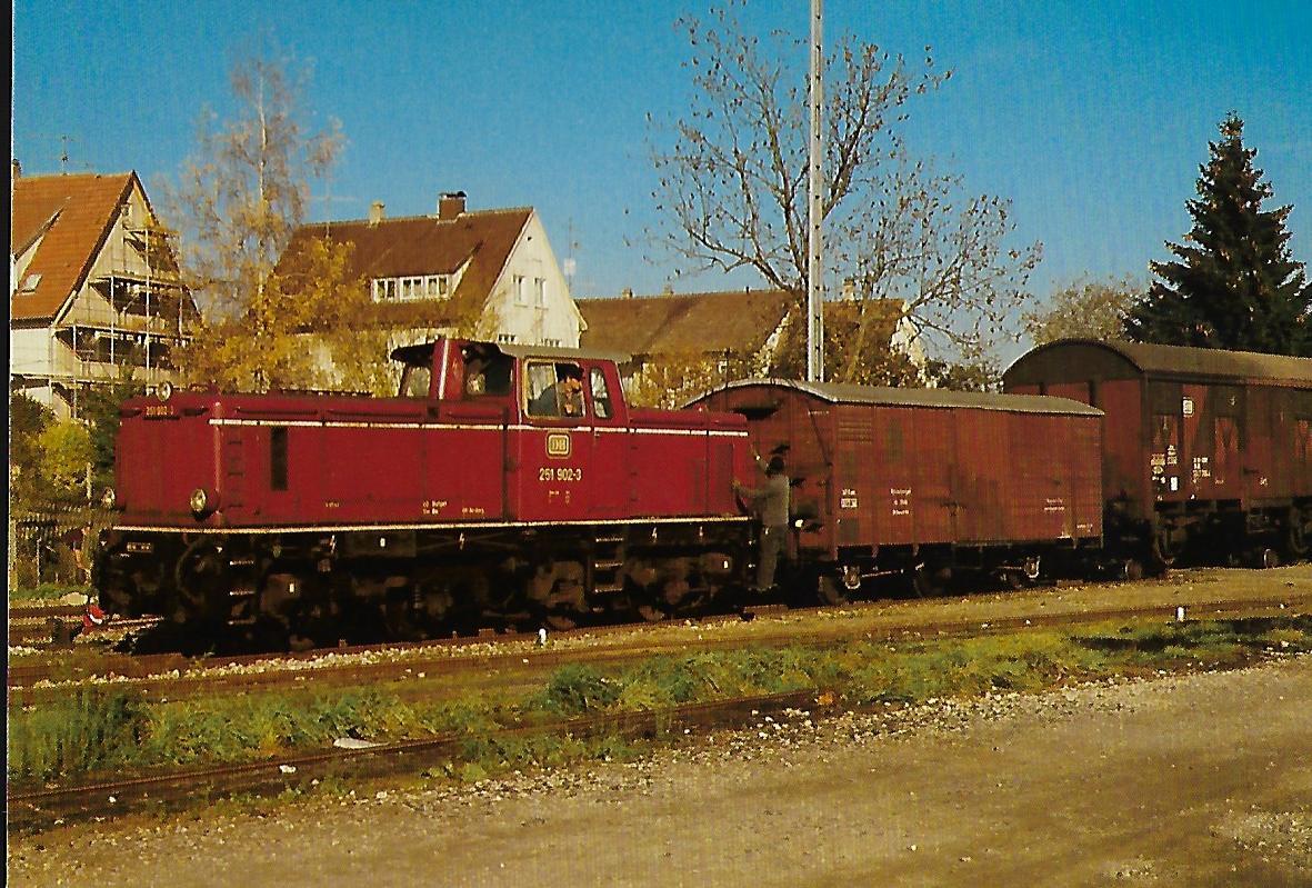 DB, Diesellokomotive 251 902-3 Warthausen – Ochsenhausen. Eisenbahn Bestell-Nr. 10380