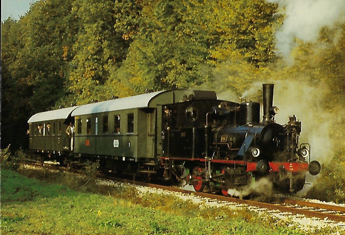 """ECM, Damplokomotive Nr. 3 """"Luci"""" auf der Strecke Monheim – Fünfstetten. Eisenbahn Bestell-Nr. 10381"""