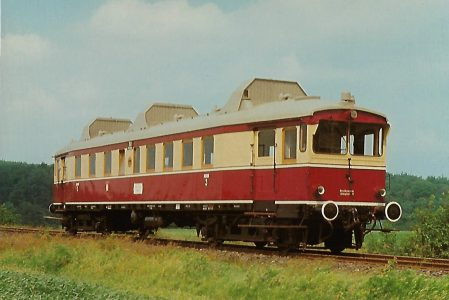 Buxtehude-Harsefelder Eisenbahnfreunde e.V., Triebwagen T 175 bei Ruschwedel. Eisenbahn Bestell-Nr. 10382