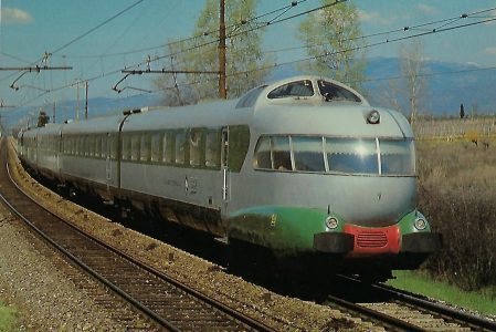 FS ETR 300 sulla linea Firenze – Roma al Maggio 1980. Eisenbahn Bestell-Nr. 10385