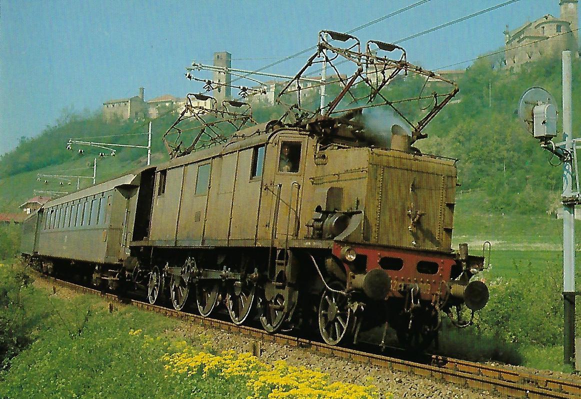 FS, Drehstromlokomotive E 432 009 auf der Strecke Acqui Terme – Savona. Eisenbahn Bestell-Nr. 10392