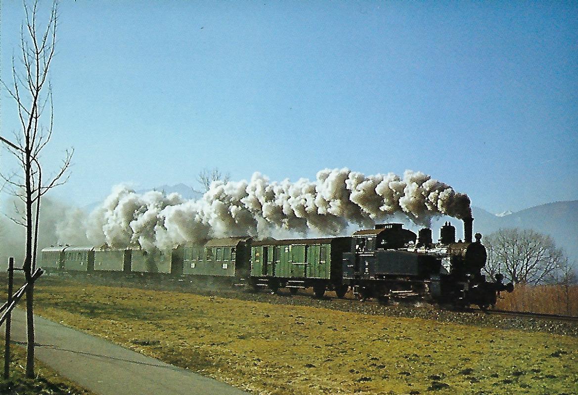 TAG 7 auf der Tegernseebahn bei Gmund. Eisenbahn Bestell-Nr. 5205