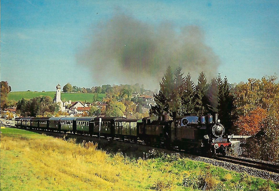 TAG 7 und 3678.32 auf der Tegernseebahn bei Gmund. Eisenbahn Bestell-Nr. 5209