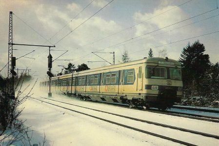 ET 420 bei München-Moosach am 9.1.1981. (5211)