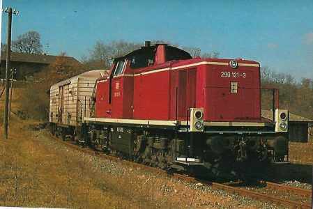 290 121 führt Güterzug nach Volkach. Eisenbahn Bestell-Nr. 5212