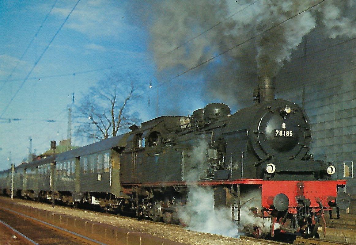 78 185 mit Eilzug in München- Mittersendling. Eisenbahn Bestell-Nr. 5218