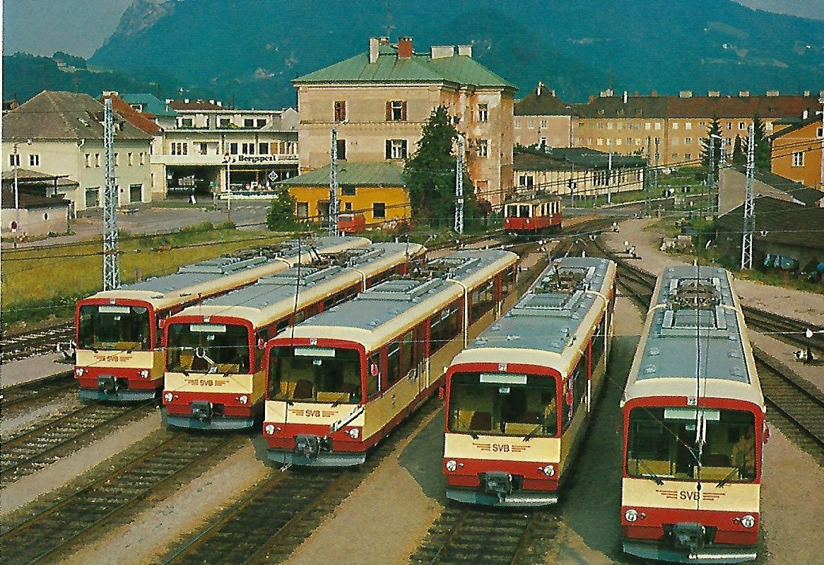 Gelenktriebwagen 41 – 45, Bj. 1983, Salzburg. Eisenbahn Bestell-Nr. 5224