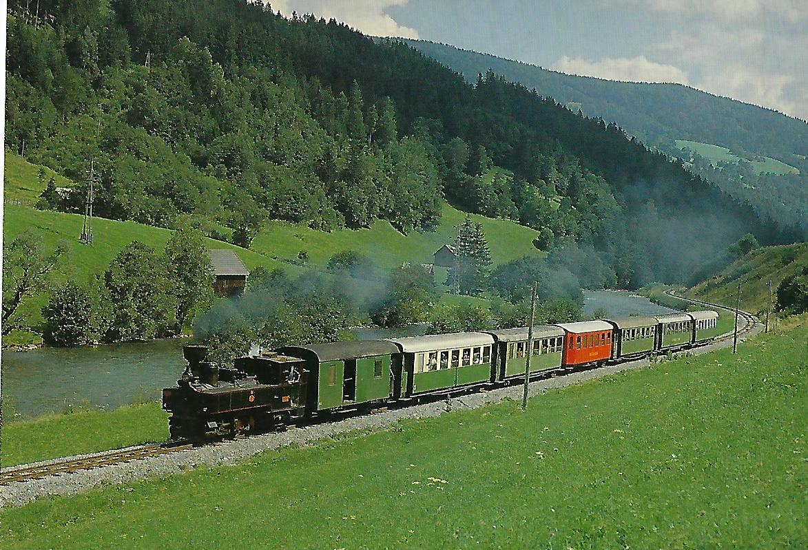 Murtalbahn Lok U 43 bei Tamsweg. Eisenbahn Bestell-Nr. 5304