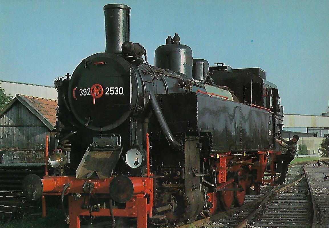 ÖGEG-Dampflokomotive 392.2530 im Bahnhof Ampflwang. Eisenbahn Bestell-Nr. 5312
