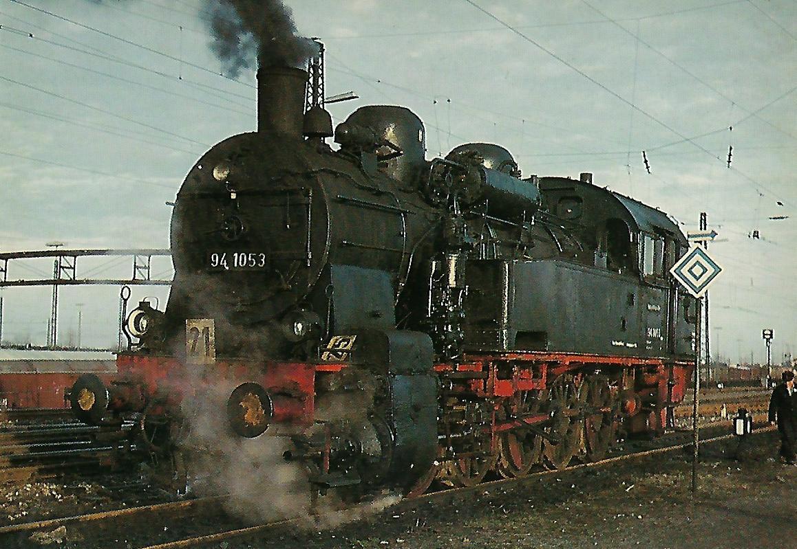 94 1052 (pr. T 16) im Güterbahnhof München-Ost. Eisenbahn Bestell-Nr. 5316