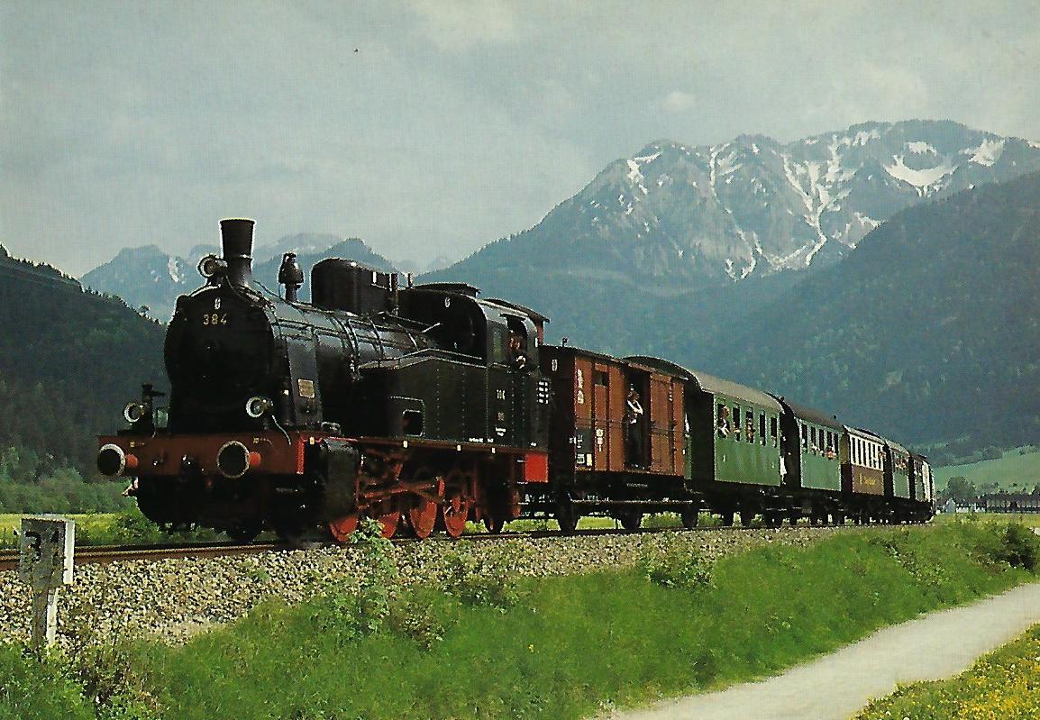 Dampflokomotive 384. Eisenbahn Bestell-Nr. 5317