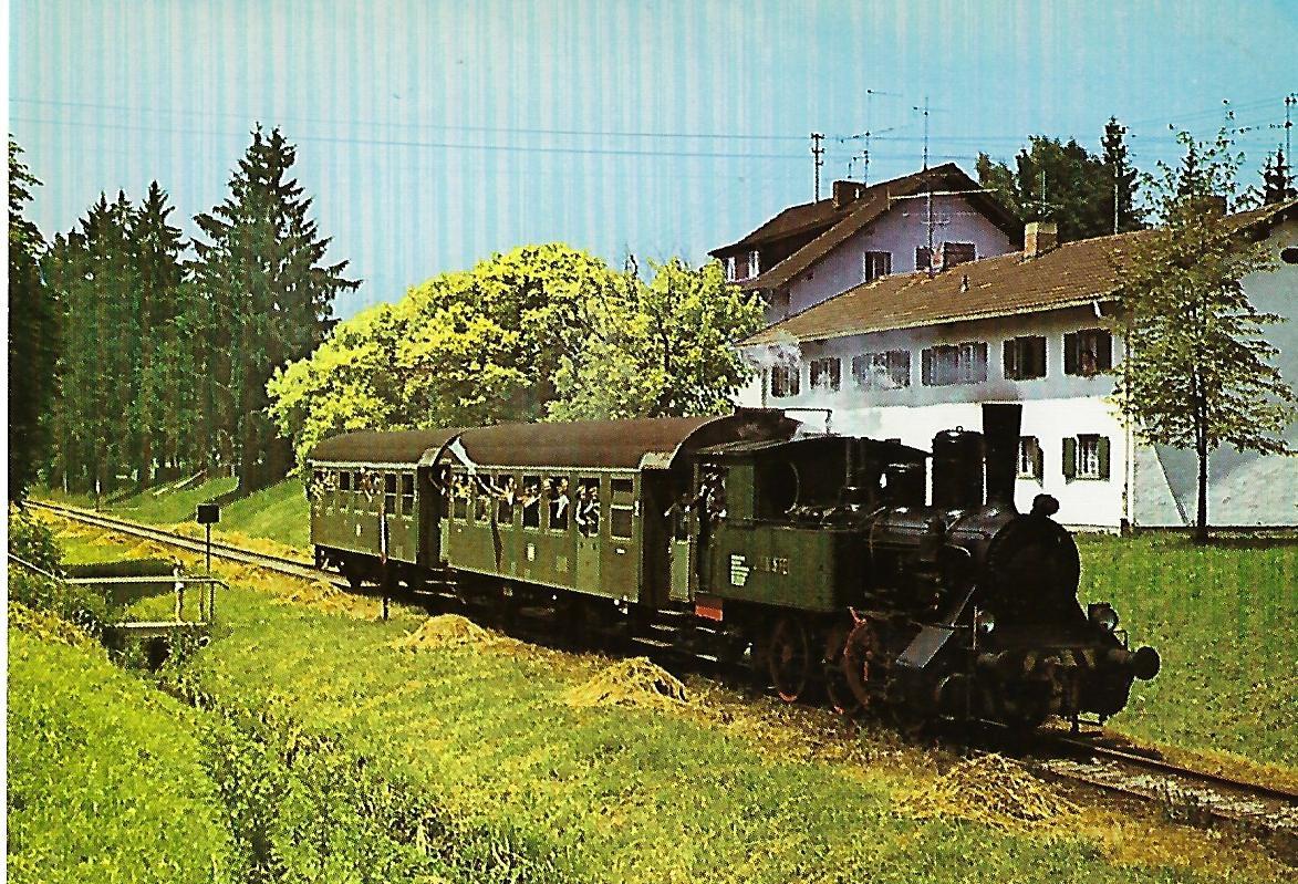 Dampflokomotive J. A. Maffei(Baujahr 1902) bei Nicklheim. Eisenbahn Bestell-Nr. 5320