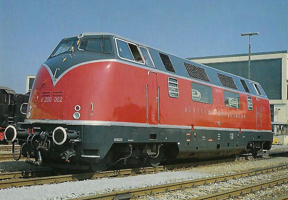 Diesellokomotive V 200 002, 1985 im Bw Mühldorf. Eisenbahn Bestell-Nr. 5322