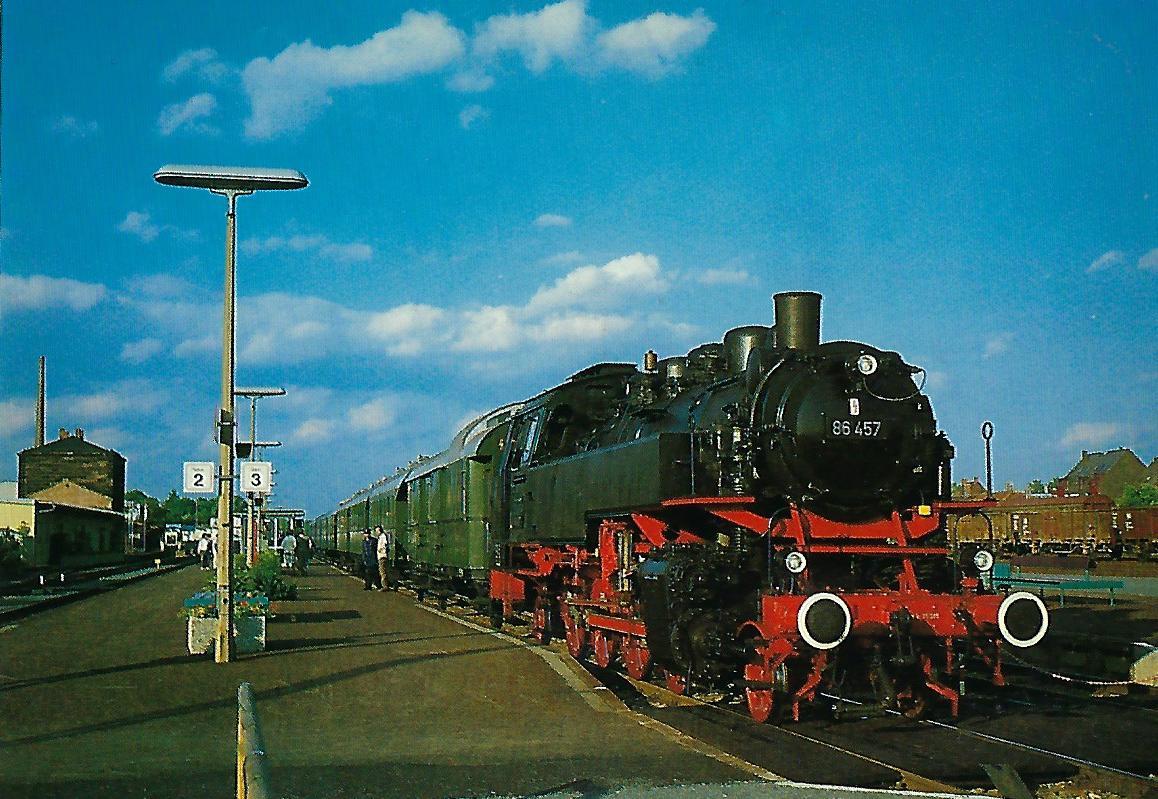 86 457 Dampflokomotive mit Museumszug im Bhf. Nürnberg-Ost. Eisenbahn Bestell-Nr. 5326