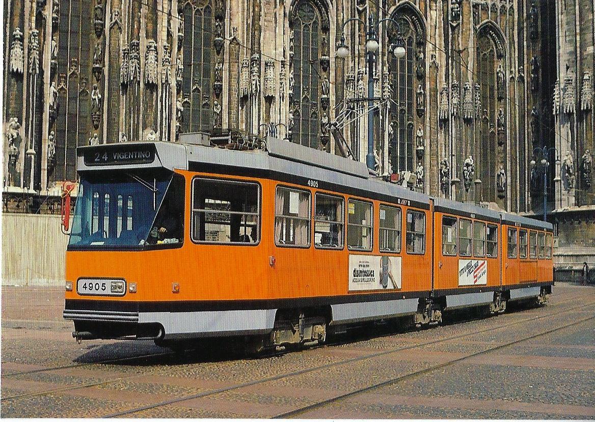 ATM Milano Jumbotram 4905. Straßenbahn Bestell-Nr. 90648
