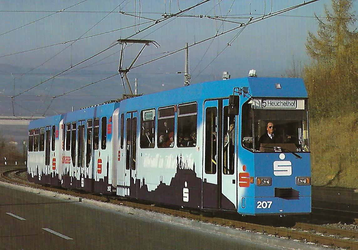 Würzburger Straßenbahn GmbH, Gelenktriebwagen GT 8-E. Straßenbahn Bestell-Nr. 90657
