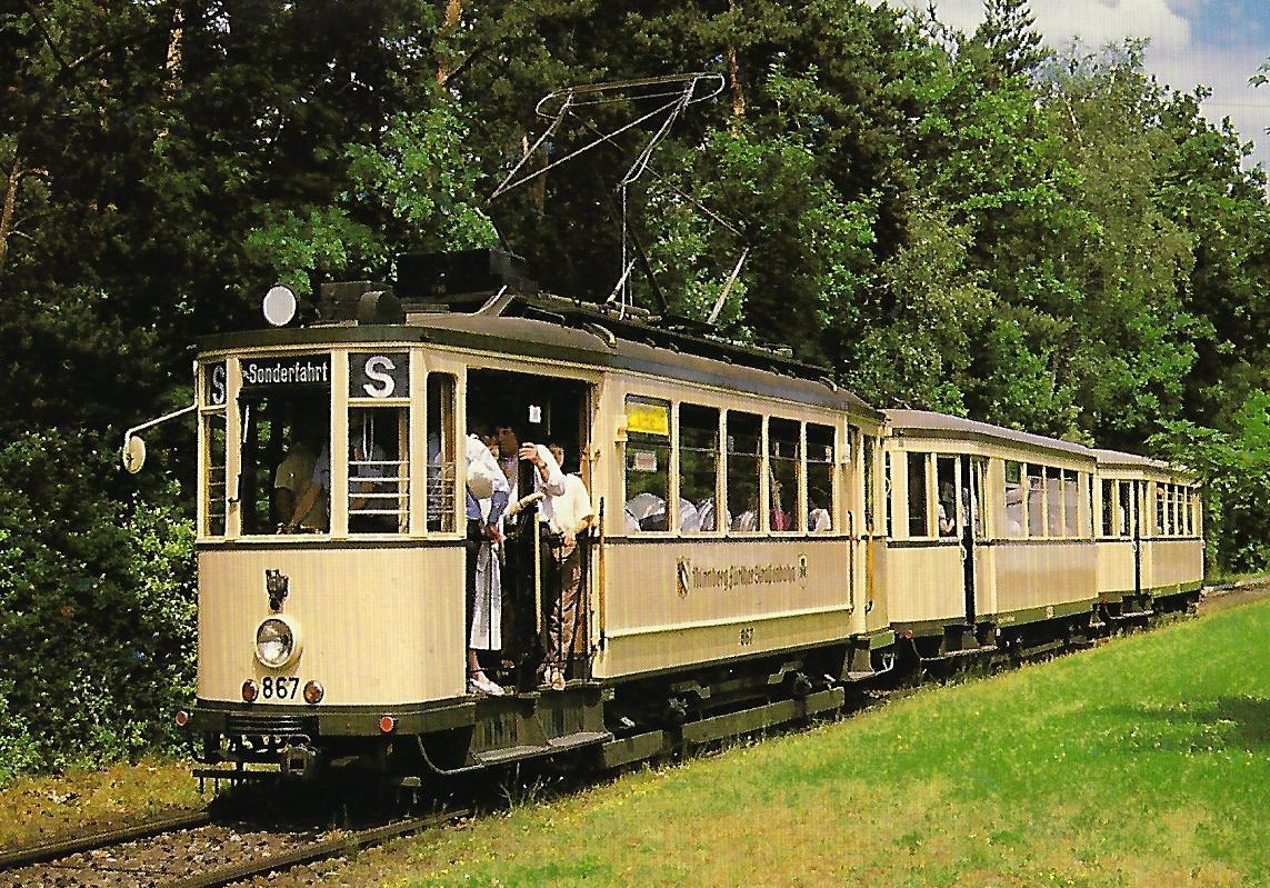 V.A.G. Nürnberg. Straßenbahn Bestell-Nr. 90659