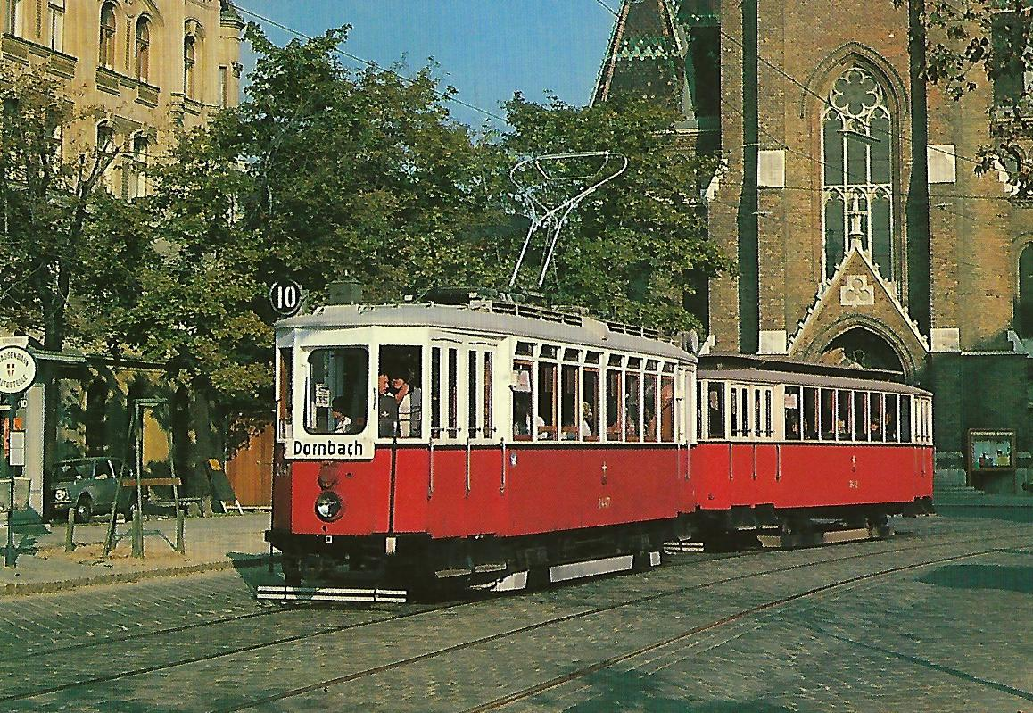 Wien, Tw K am Laurentiusplatz. Straßenbahn Bestell-Nr.  Straßenbahn Bestell-Nr. 90661
