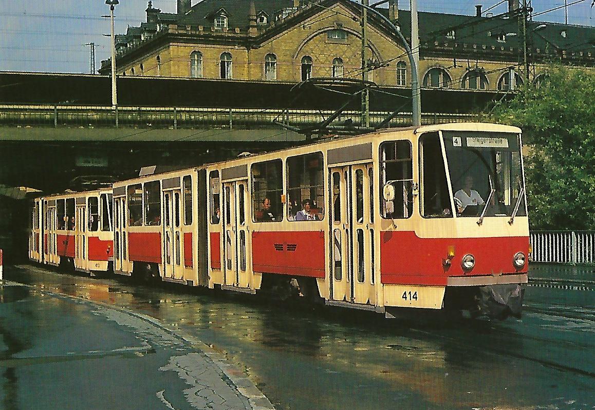Straßenbahn Erfurt, elektr. Kurzgelenk-Tw 414. Straßenbahn Bestell-Nr. 90662