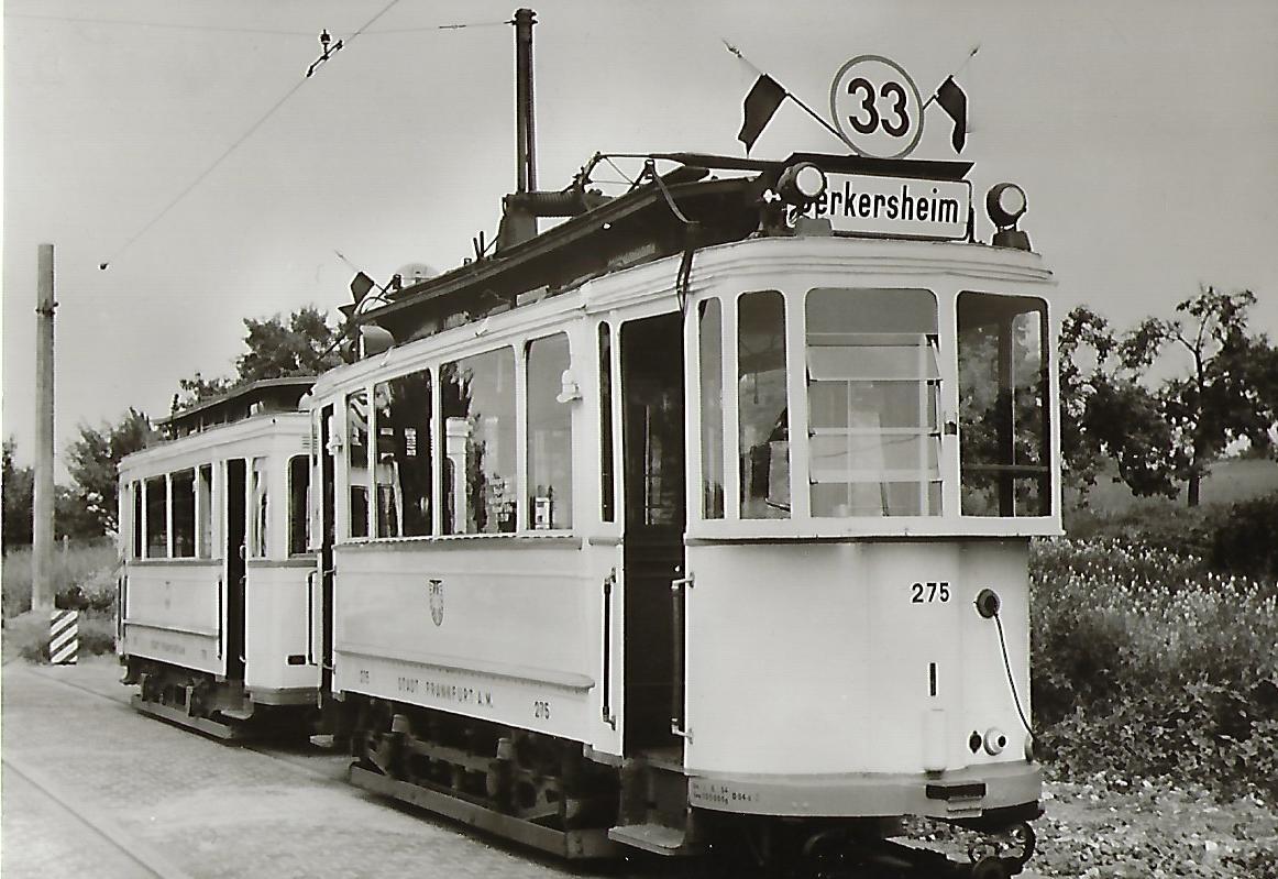 Stadtwerke Verkehrsgesellschaft Frankfurt am Main B-Tw 275. Straßenbahn Bestell-Nr. 91266