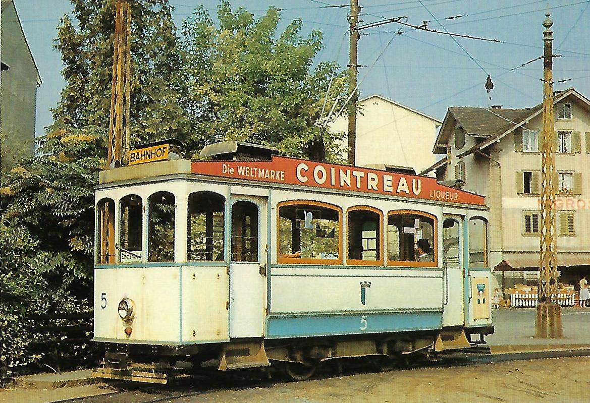 Verkehrsbetriebe der Stadt Luzern Be 2/2 5 (Bj. 1899) in Emmenbrücke. Straßenbahn Bestell-Nr. 91409