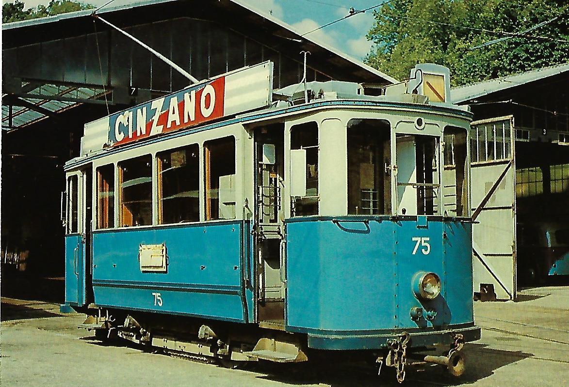 Tramways Lausannois, Triebwagen Be 2/2 75. Straßenbahn Bestell-Nr. 91469