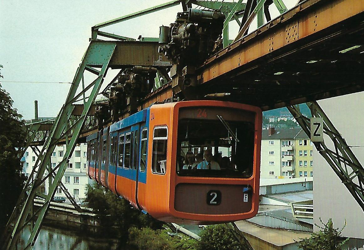 Wuppertaler Stadtwerke AG, Schwebebahn-Gelenktriebwagen 24. Straßenbahn Bestell-Nr. 95002