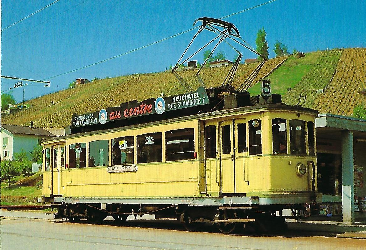 Neuenburger Straßenbahn, elektr. Tw Be 2/4 41. Straßenbahn Bestell-Nr. 95004