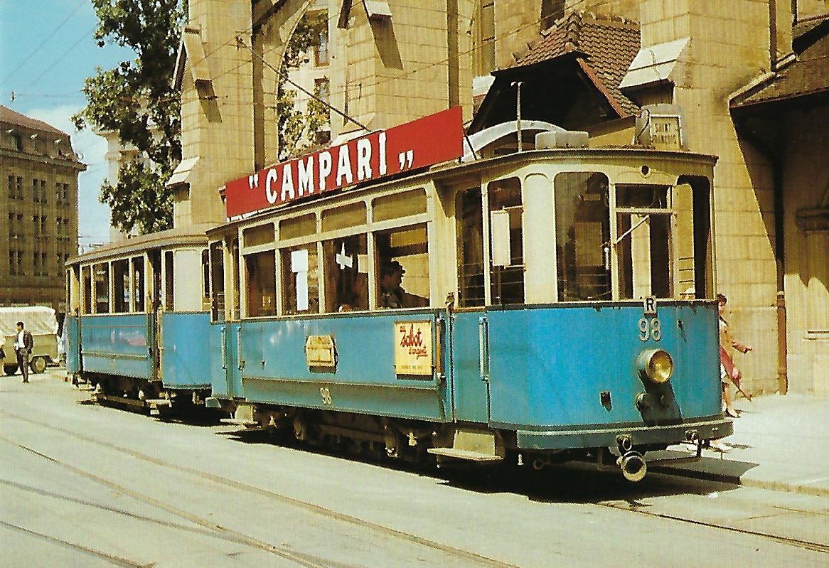 Straßenbahn Lausanne (TL), elektr. Triebwagen Ce 2/2 98, Bj. 1929. Straßenbahn Bestell-Nr. 95005