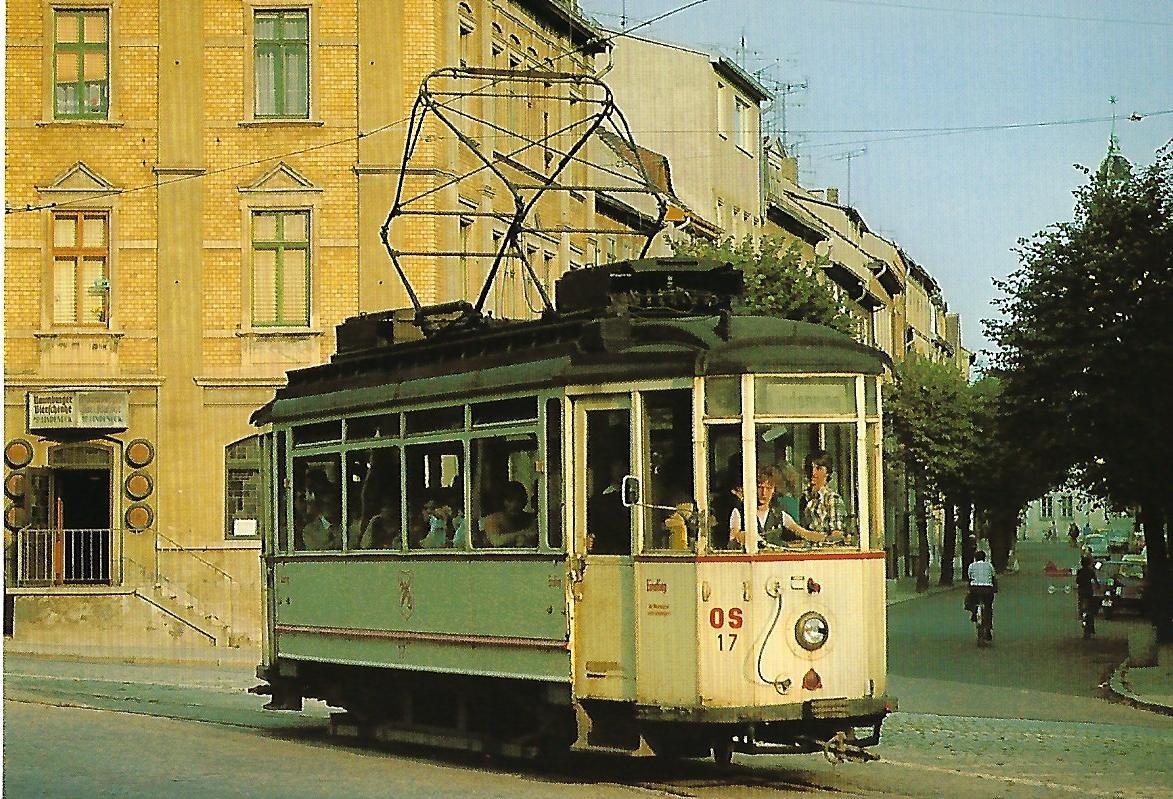 Straßenbahn Naumburg/Saale. Elektrischer Zweirichtungs-Triebwagen Nr. 17. Straßenbahn Bestell-Nr. 95006