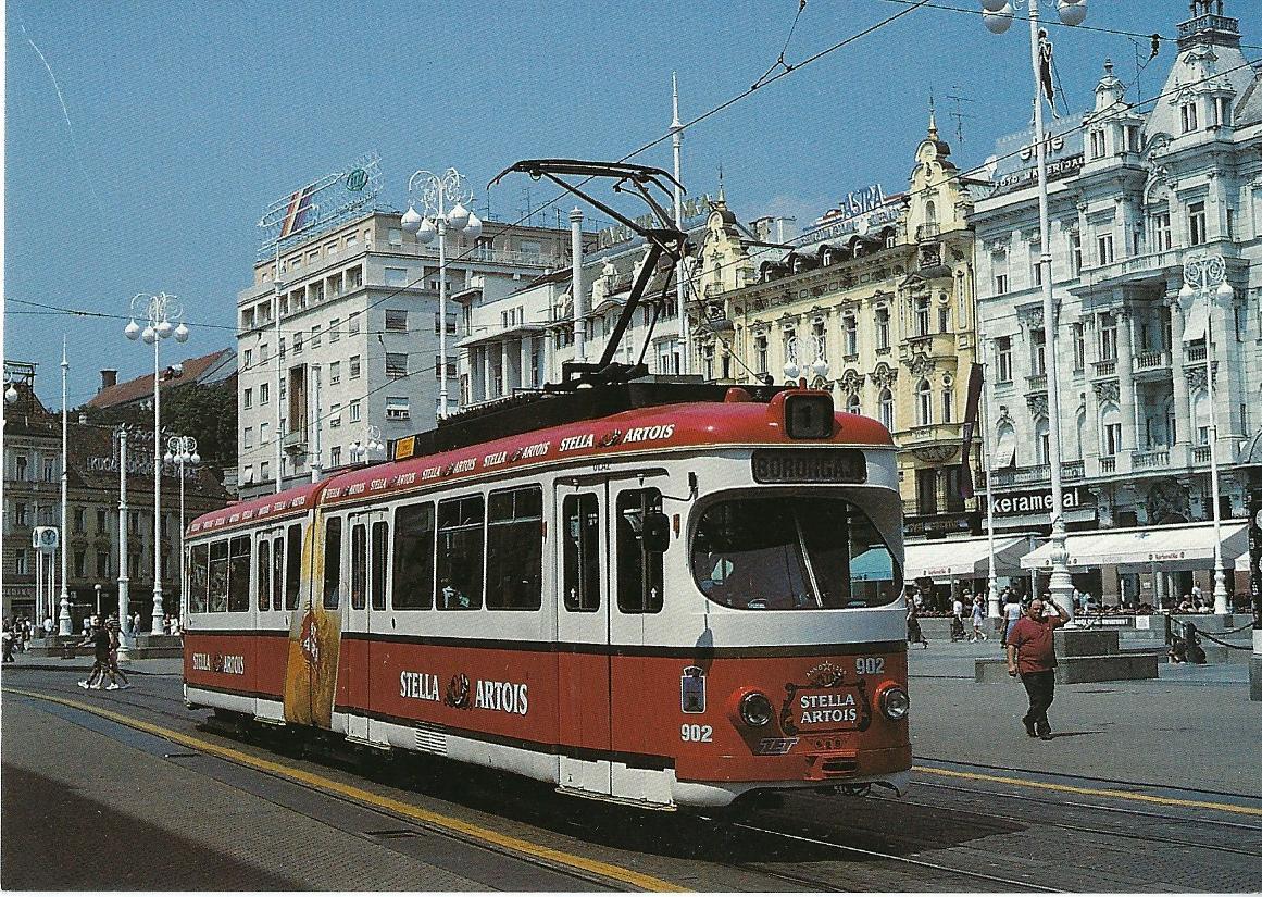 Elektrische Straßenbahn Zagreb, Gelenktriebwagen 902. Straßenbahn Bestell-Nr. 95007