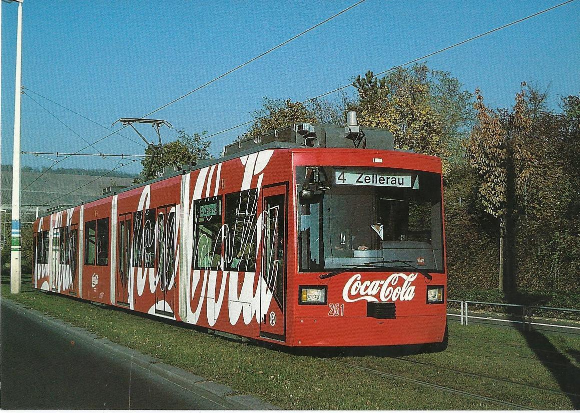Würzburger Straßenbahn GmbH, Niederflur-Gelenktriebwagen 261. Straßenbahn Bestell-Nr. 95013
