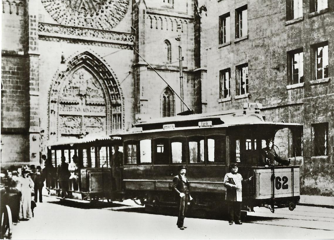 Nürnberg-Fürther Straßenbahn Tw 62, Bj. 1896. Straßenbahn Bestell-Nr. 96044