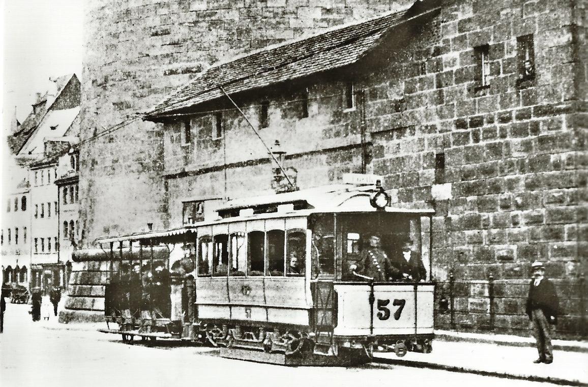 Nürnberg-Fürther Straßenbahn Tw 57, Bj. 1896. Straßenbahn Bestell-Nr. 96045