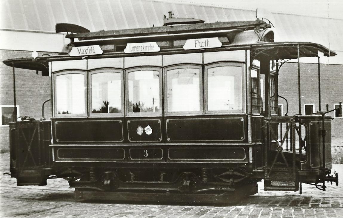 Nürnberg-Fürther Straßenbahn Tw 5, Bj. 1896.  Straßenbahn Bestell-Nr. 96046