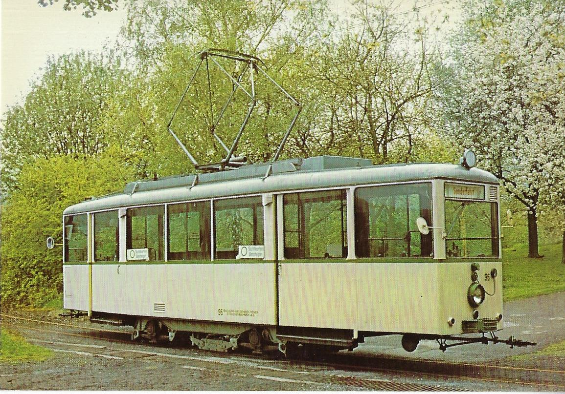 Museums-Straßenbahn Wuppertal Kohlfurth-Cronenberg Triebwagen 96 Straßenbahn Bestell-Nr. 96050