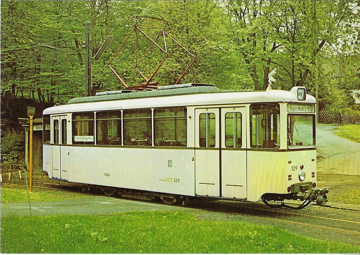 Wuppertal Kohlfurth-Cronenberg Triebwagen 329 Straßenbahn Bestell-Nr. 96052